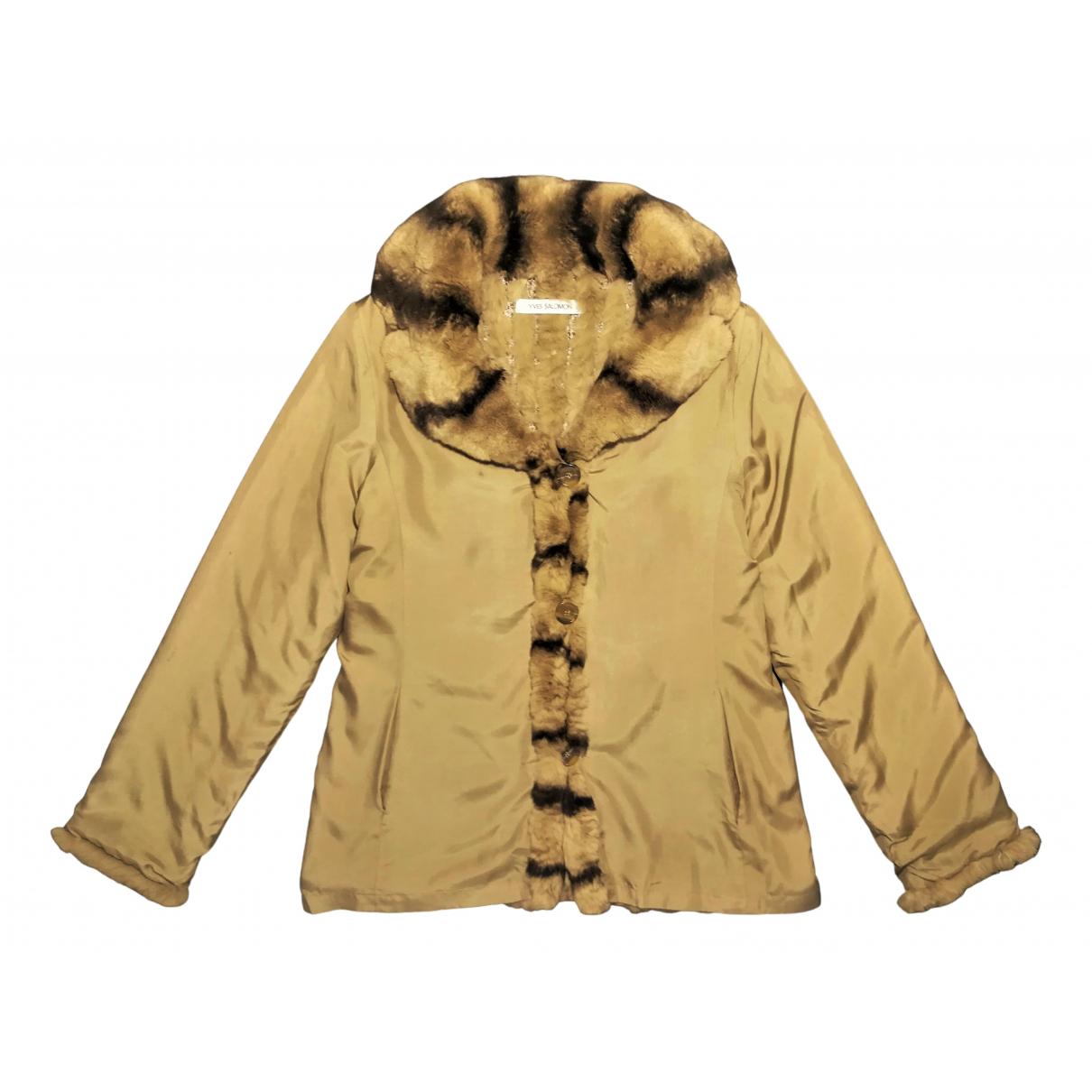Yves Salomon \N Camel Silk coat for Women 38 FR