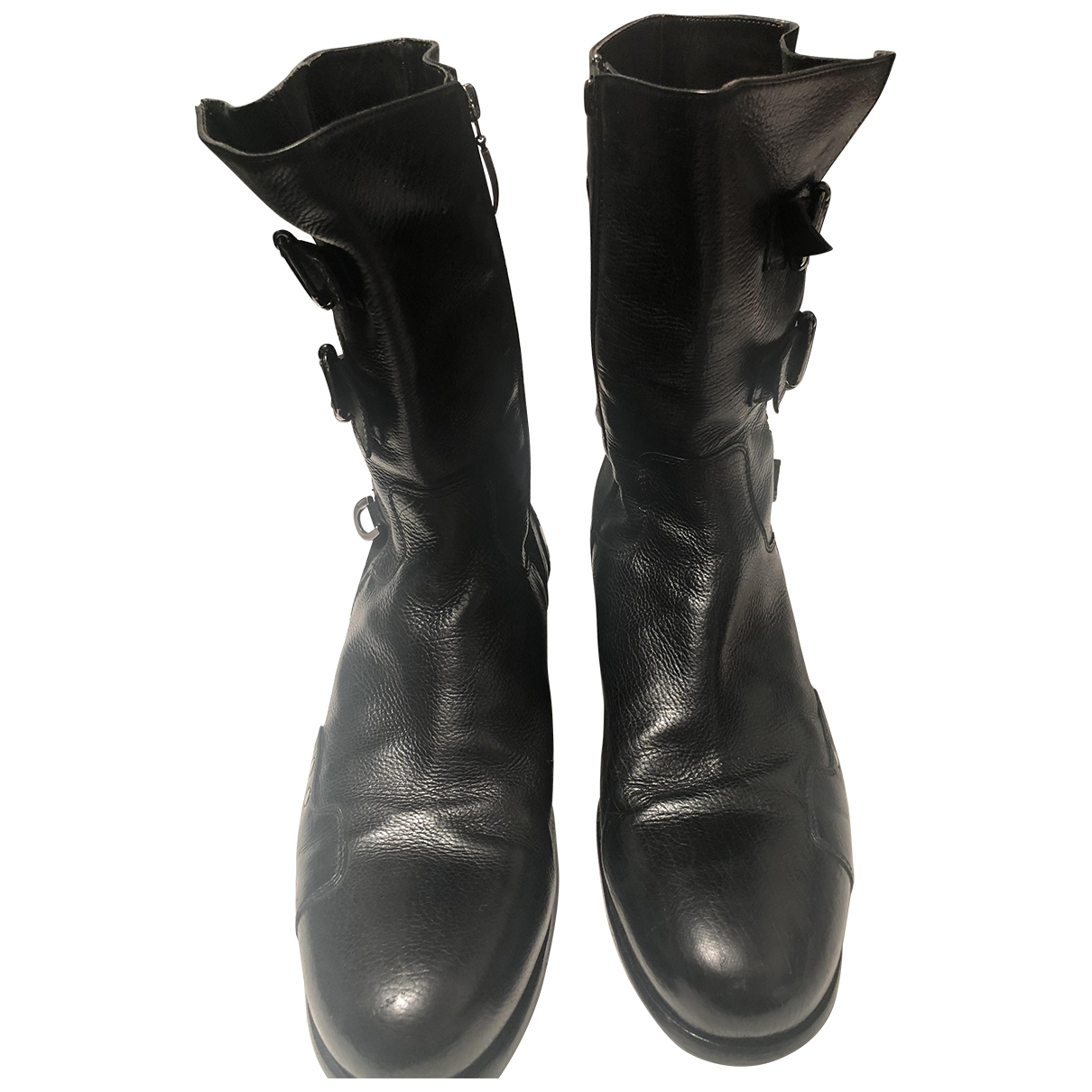 Cesare Paciotti \N Black Leather Boots for Men 9 US