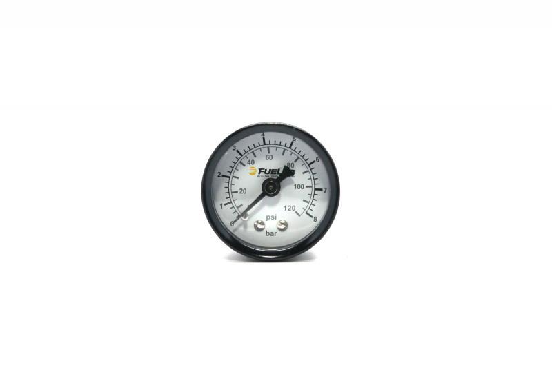 Fuelab 71511 Fuel Pressure Gauge, DUAL SCALE BAR/EFI