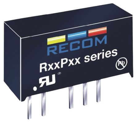 Recom 1W Isolated DC-DC Converter Through Hole, Voltage in 4.5 → 5.5 V dc, Voltage out 5V dc