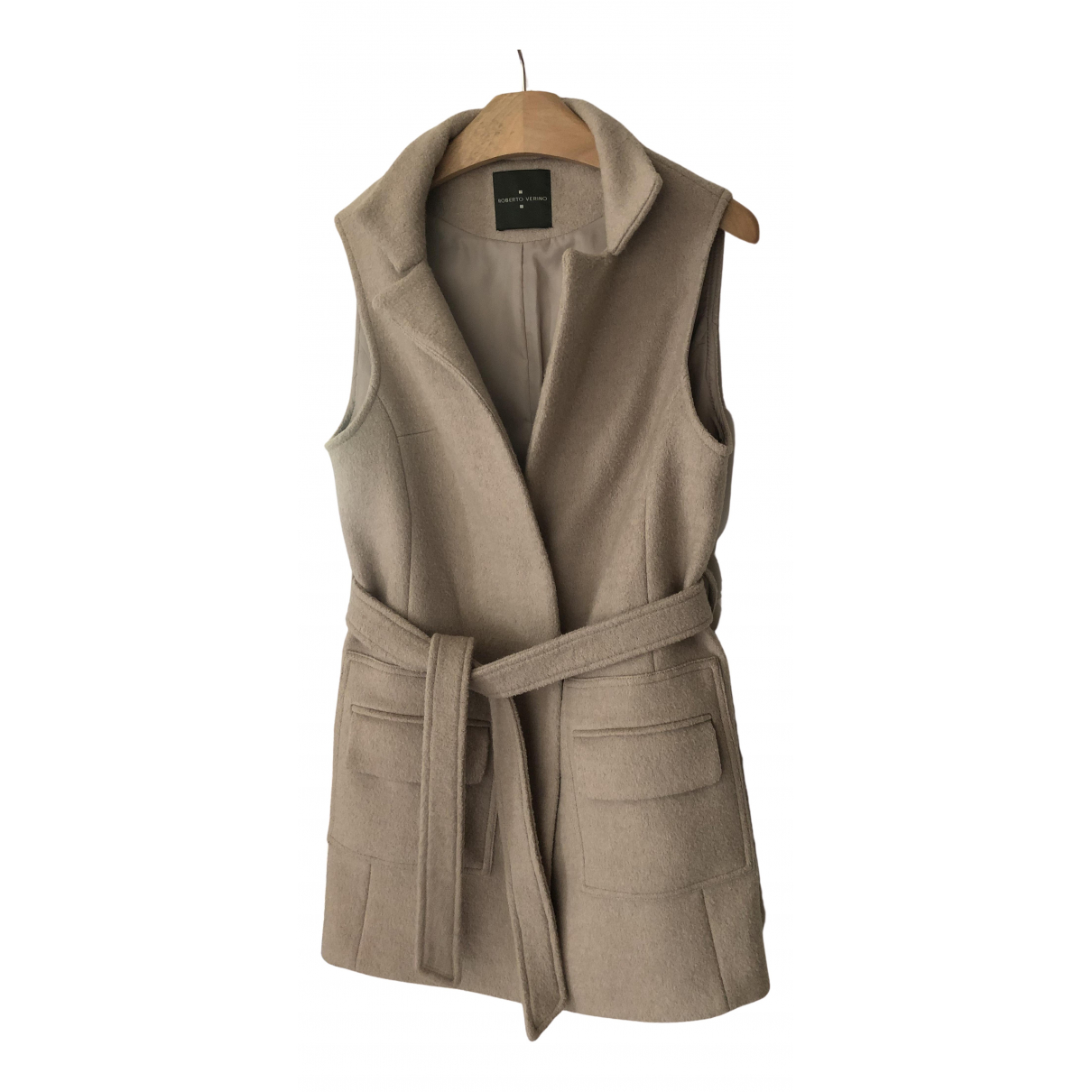 Non Signé / Unsigned \N Beige Wool jacket for Women S International