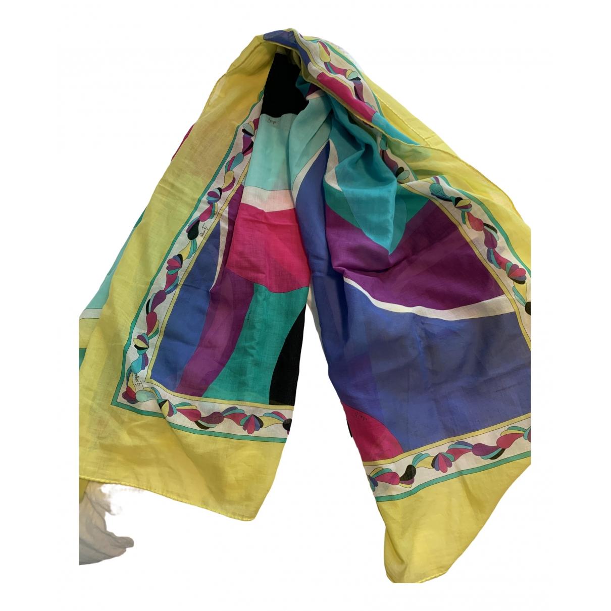Emilio Pucci \N Multicolour Cotton scarf for Women \N