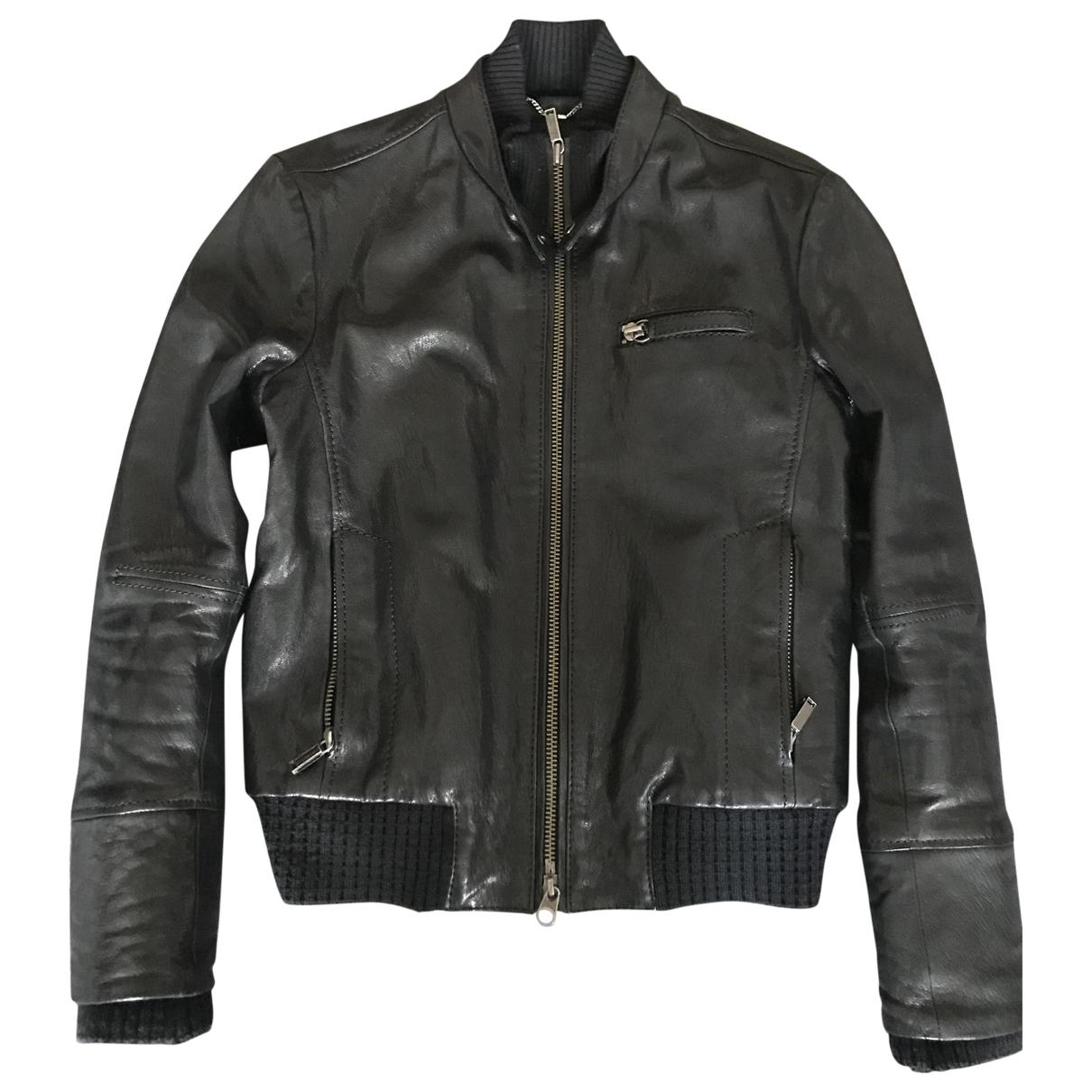 Dirk Bikkembergs \N Black Leather jacket  for Men 52 FR