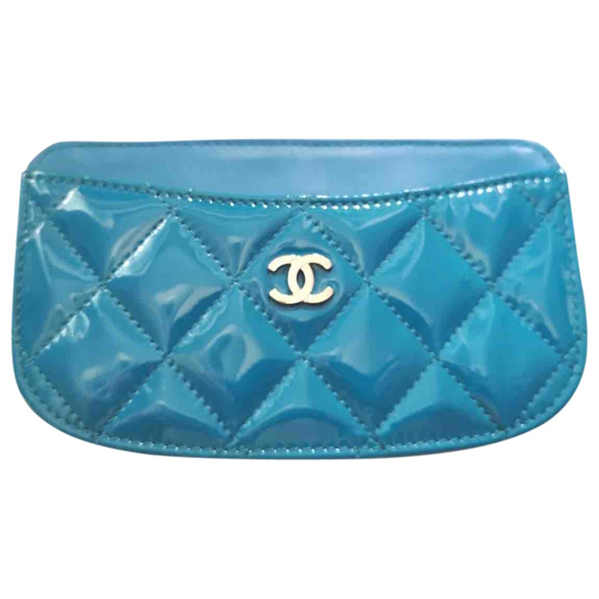 Chanel Timeless/Classique Blue Patent leather Purses, wallet & cases for Women \N