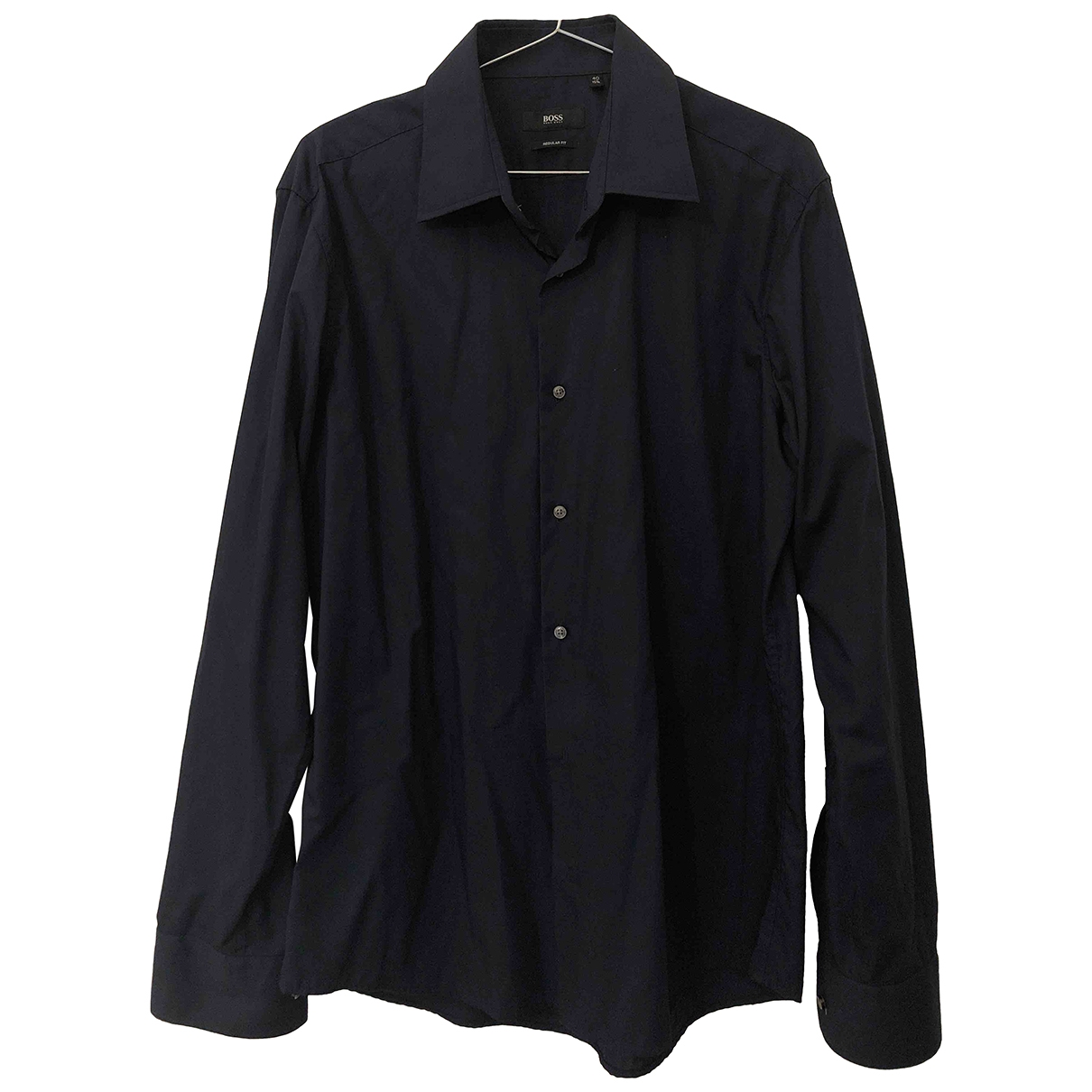 Boss \N Blue Cotton Shirts for Men 40 EU (tour de cou / collar)