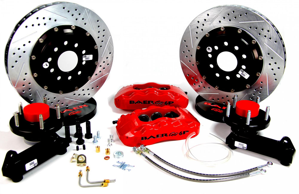 Baer Brakes Brake System 14 Inch Front Pro+ Red 64-72 GM A Body