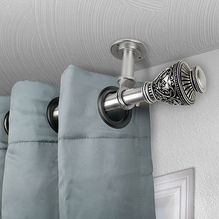 Rod Desyne Veda Ceiling Curtain Rod, One Size , Silver