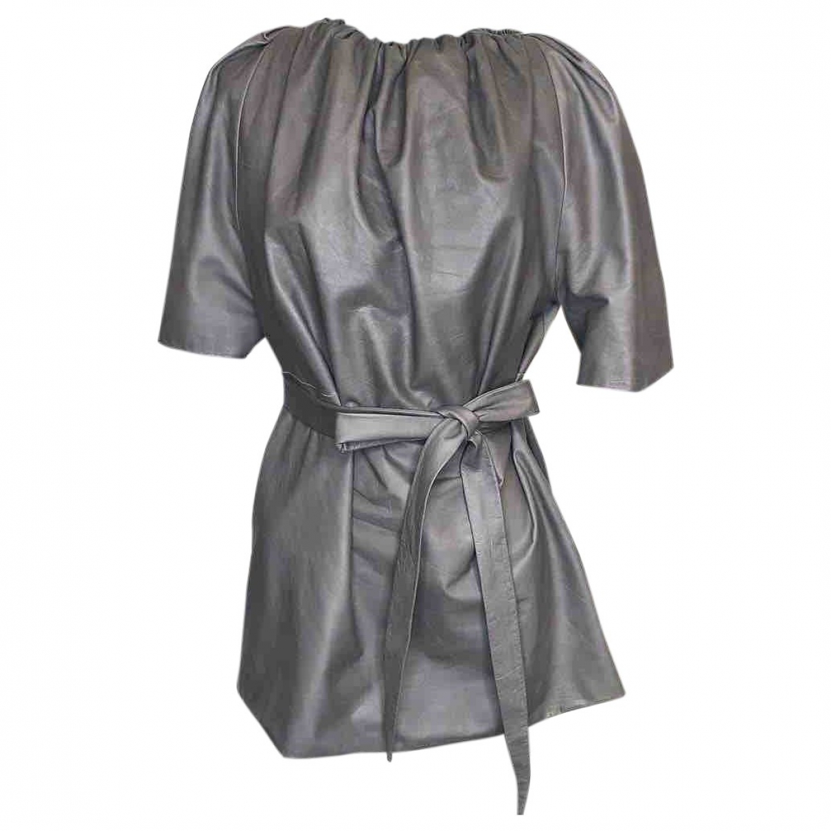Rick Owens \N Grey Leather  top for Women 42 IT