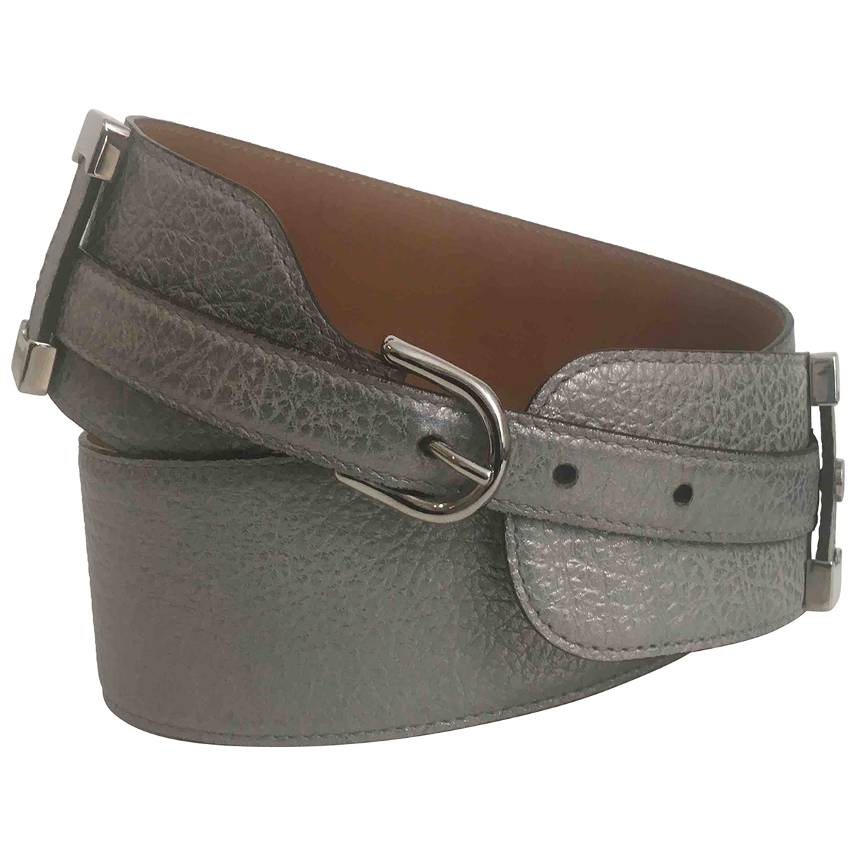 Roberto Cavalli \N Silver Leather belt for Women 90 cm