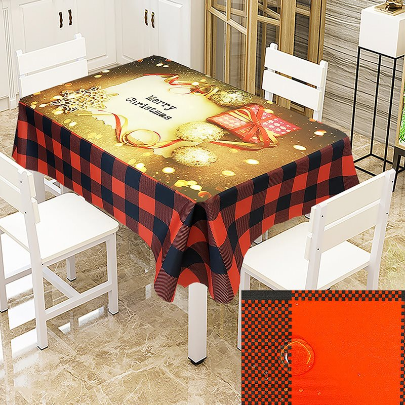 European Style Waterproof And Antifouling Christmas Theme Printing 3D Tablecloth