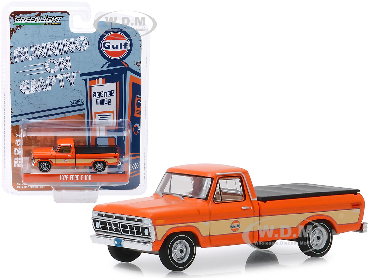 1976 Ford F-100 Pickup Truck with Bed Cover Orange