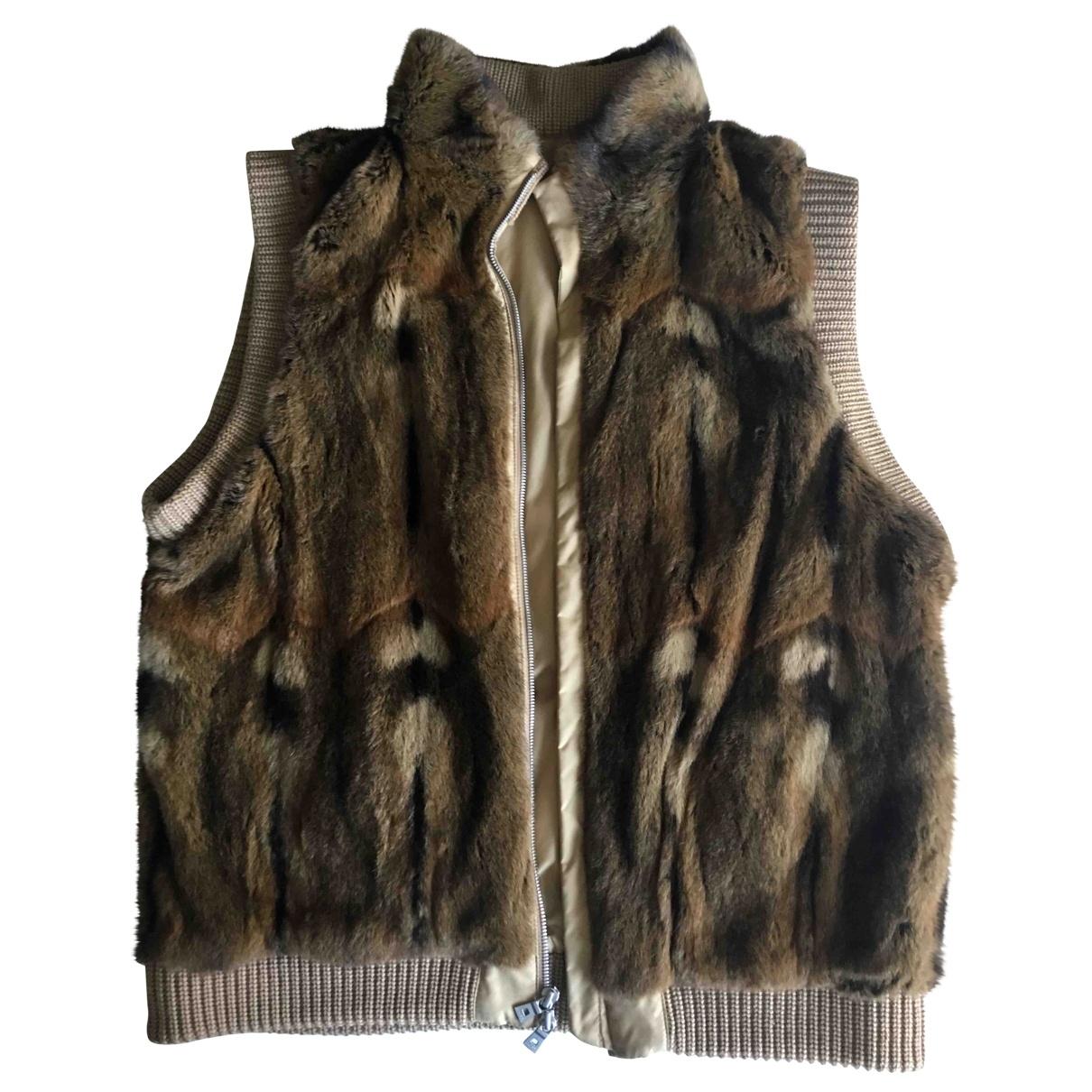 Boss \N Beige Fur jacket for Women M International