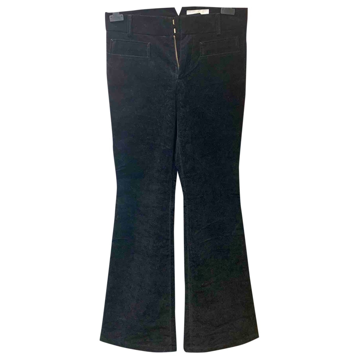 Chloé \N Black Velvet Trousers for Women 36 FR