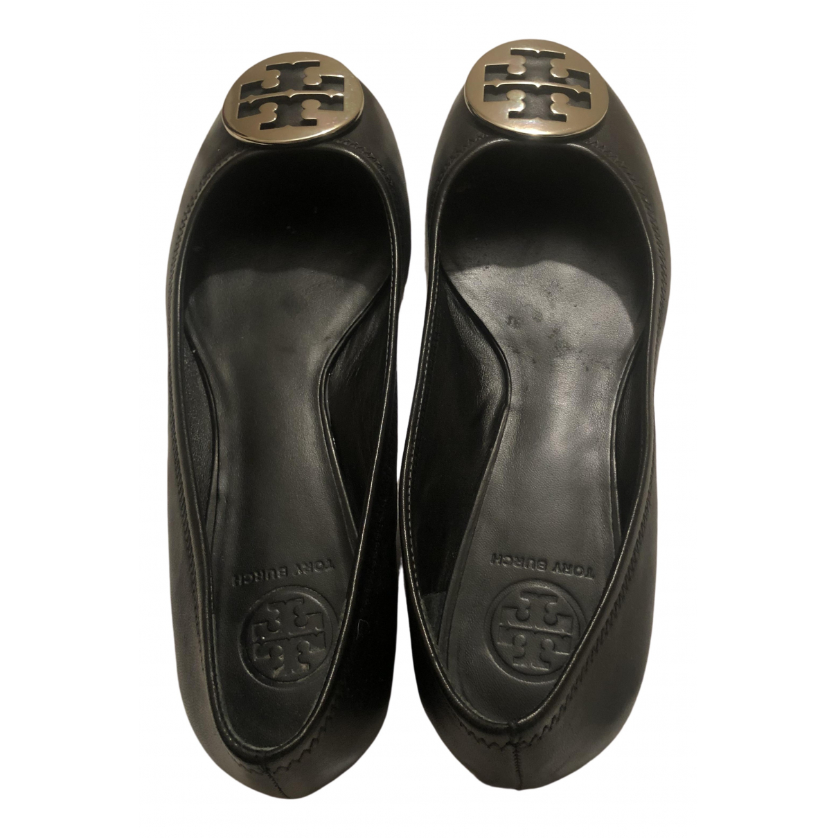 Tory Burch \N Black Leather Ballet flats for Women 9 US