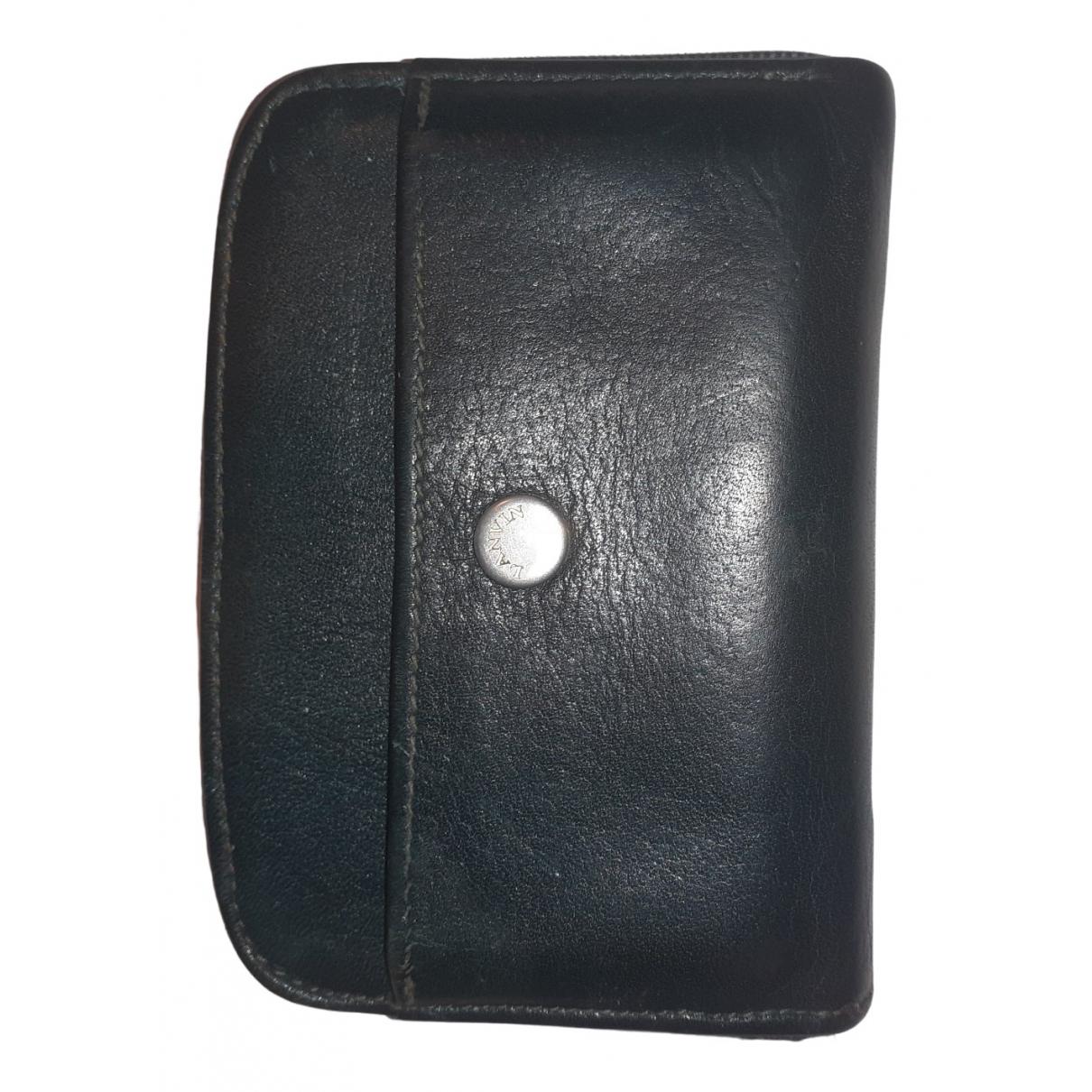 Lanvin \N Green Leather Small bag, wallet & cases for Men \N