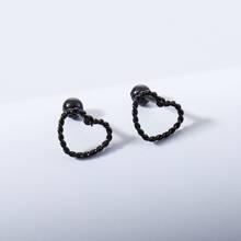 Men Heart Design Earrings