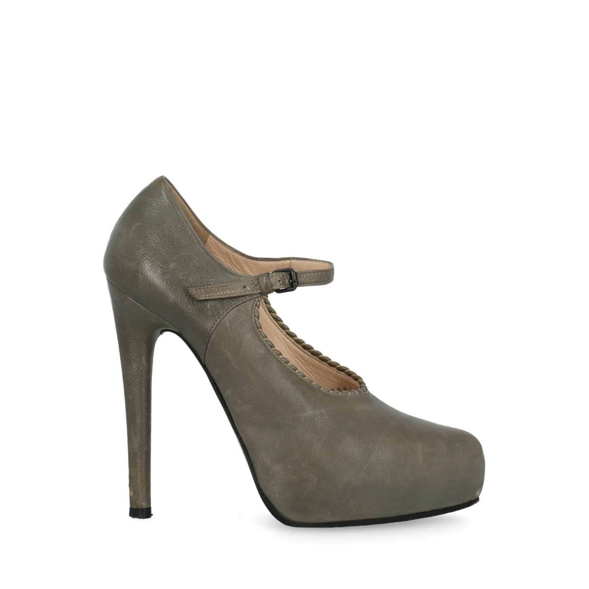 Bottega Veneta \N Grey Leather Heels for Women 37 IT
