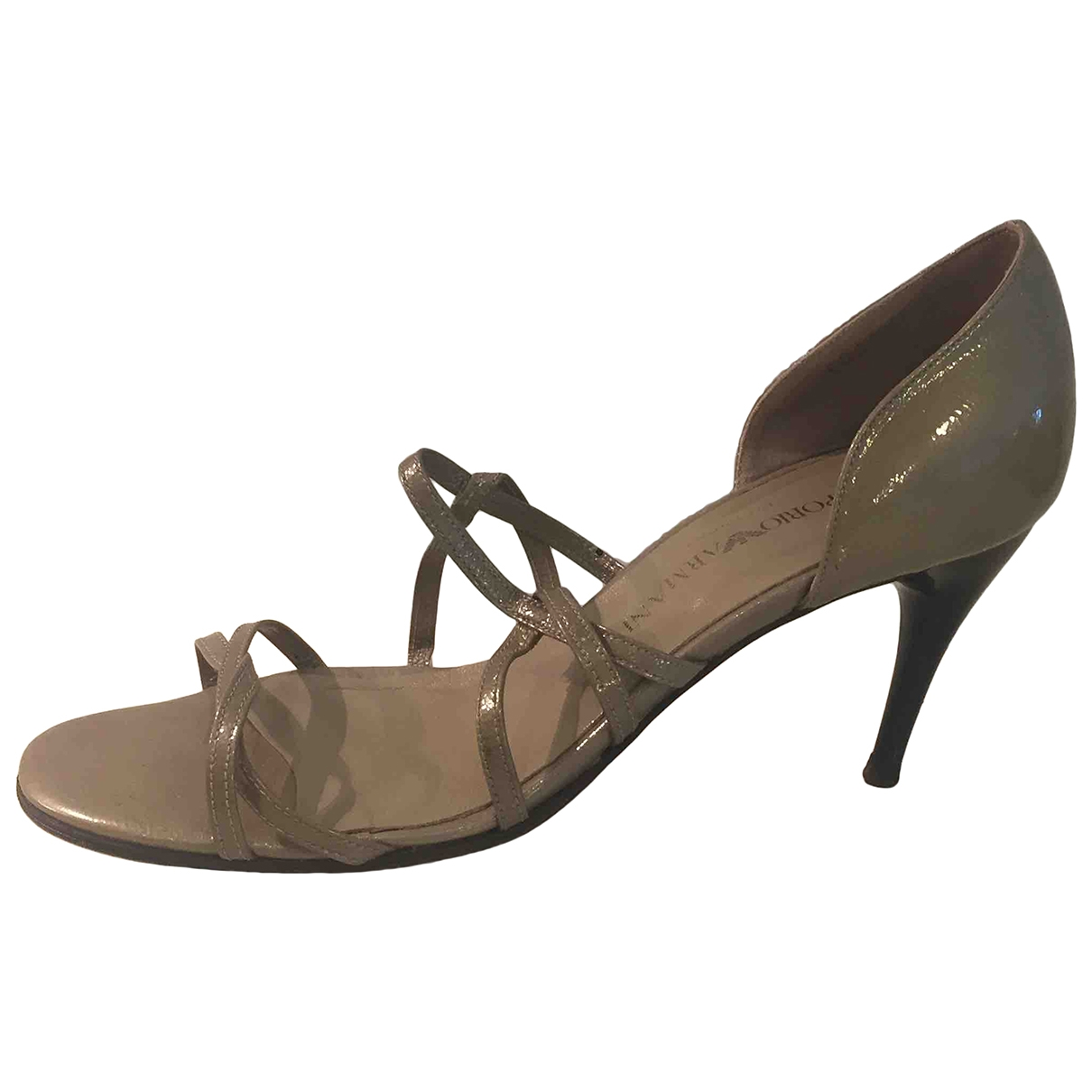 Emporio Armani \N Grey Patent leather Heels for Women 37 EU