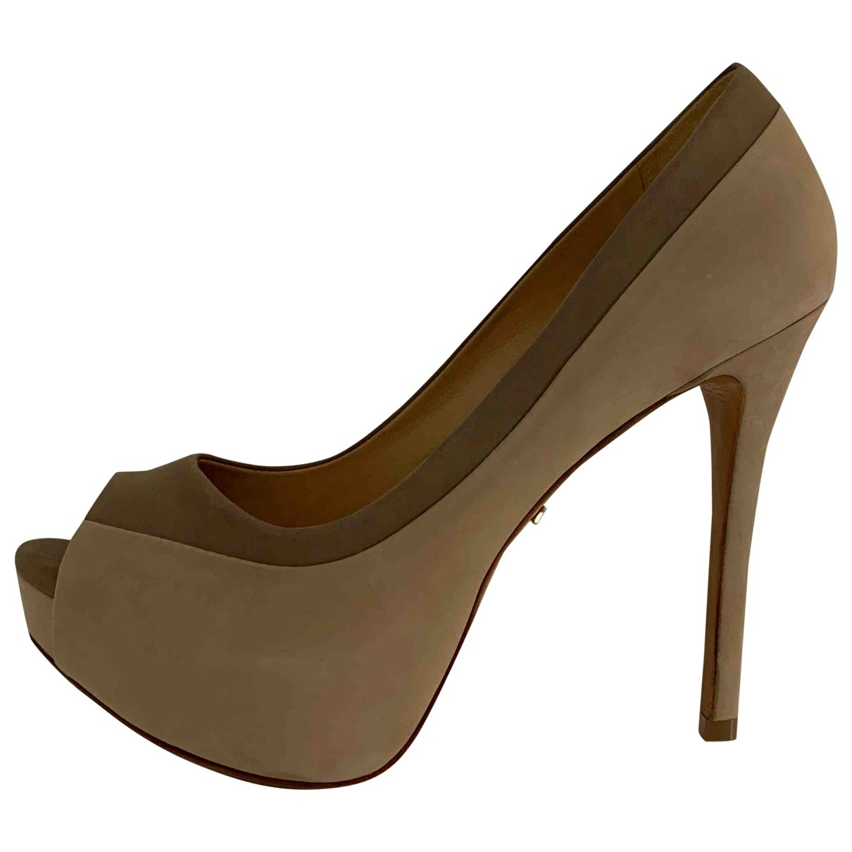 Schutz \N Beige Suede Heels for Women 40 EU