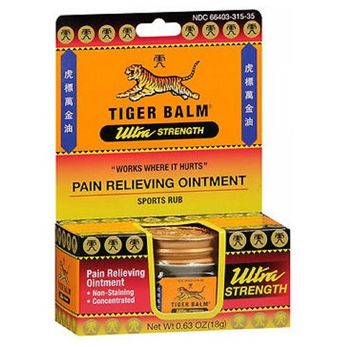 Tiger Balm Ultra Strength Pain Relieving Ointment 18 gm by Tiger Balm