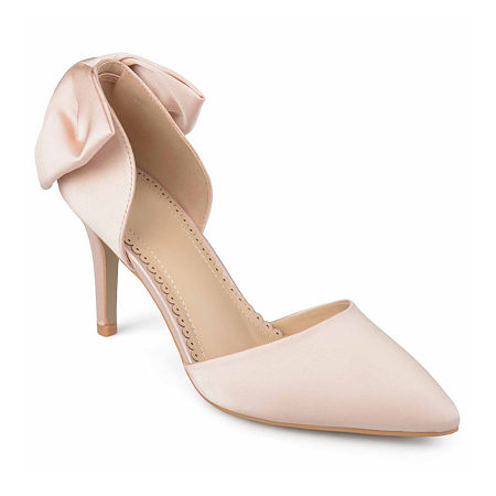 Journee Collection Womens Tanzi Pumps Stiletto Heel, 8 1/2 Medium, Pink