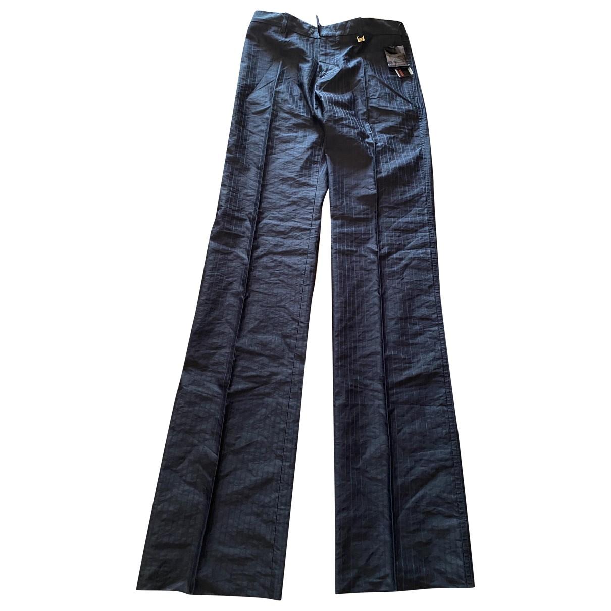 Roberto Cavalli \N Black Cotton Trousers for Men 46 IT
