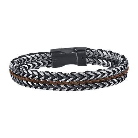 Stainless Steel 8 1/2 Inch Link Bracelet, One Size , No Color Family