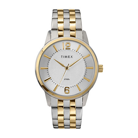Timex Mens Two Tone Stainless Steel Bracelet Watch-Tw2t59900ji, One Size , No Color Family