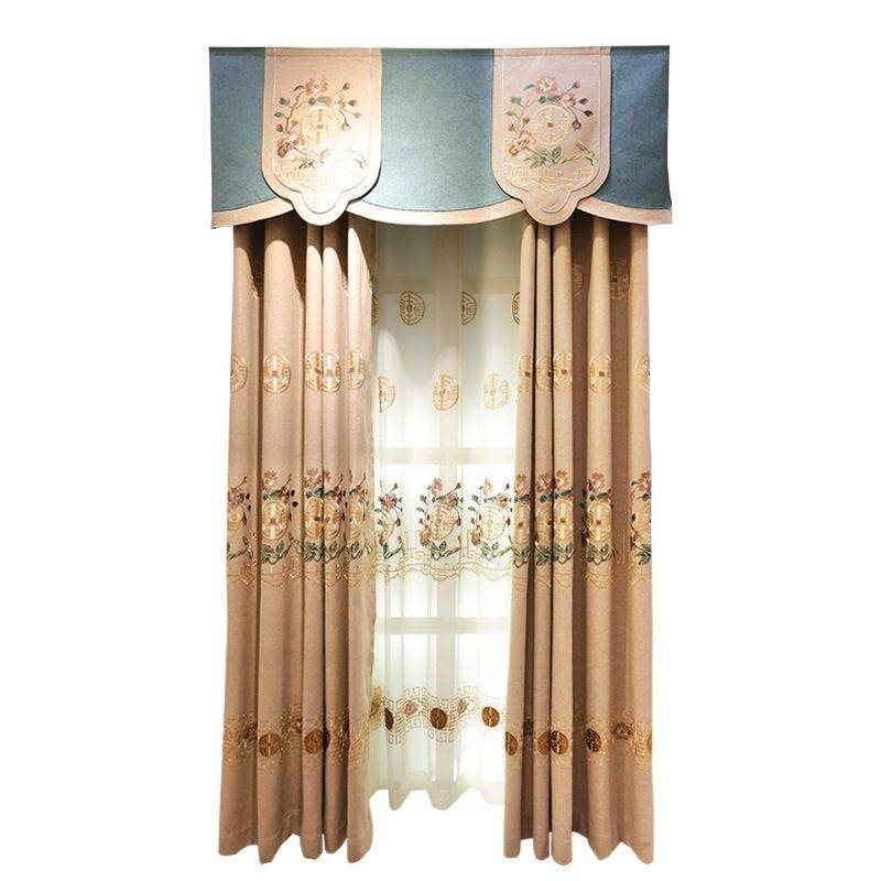 American Pastoral Style Elegant Embroidered Floral Decorative 2 Panels Custom Sheer Curtains For Living Room Bedroom