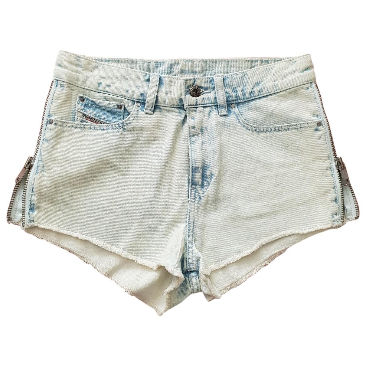 Diesel \N Blue Cotton Trousers for Women XS International