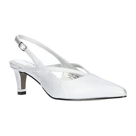 Easy Street Womens Symphony Pumps Spike Heel, 7 1/2 Medium, Silver