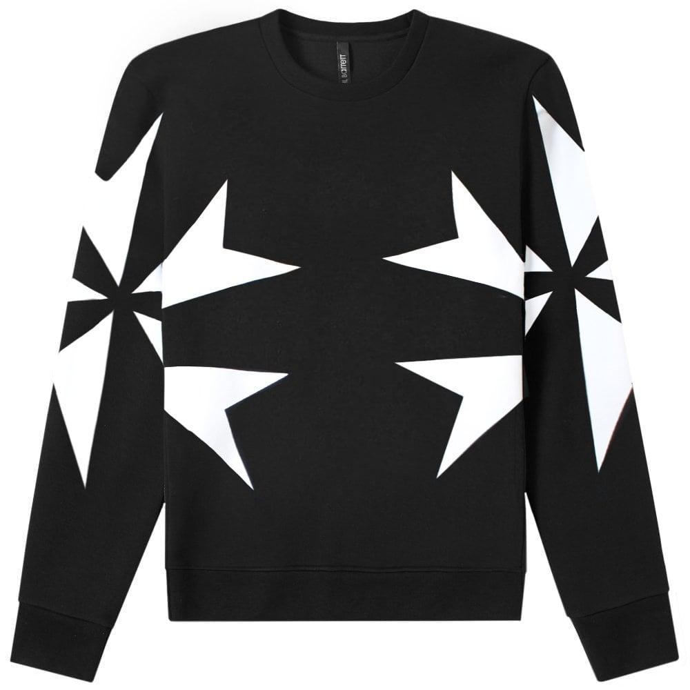 Neil Barrett Star Graphic Print Sweatshirt Colour: BLACK, Size: EXTRA