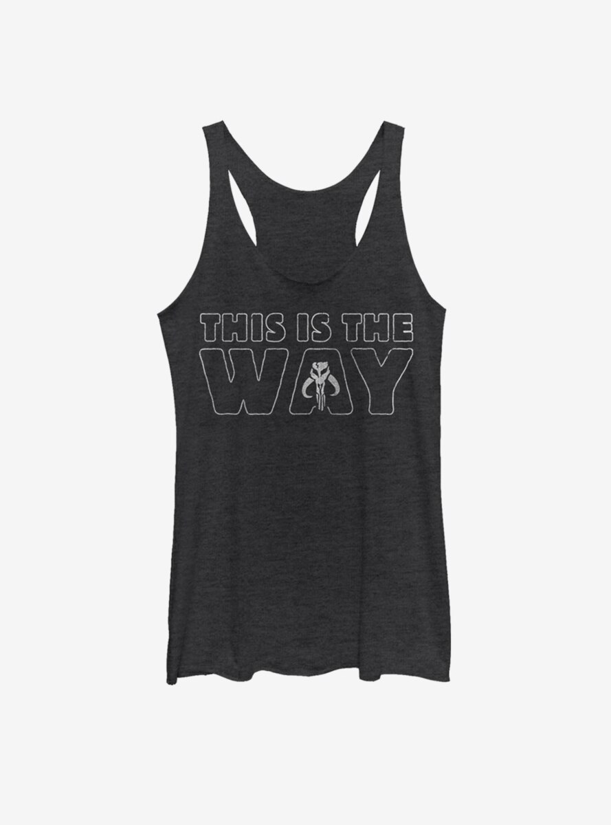 Star Wars The Mandalorian This Is The Way Outline Womens Tank Top