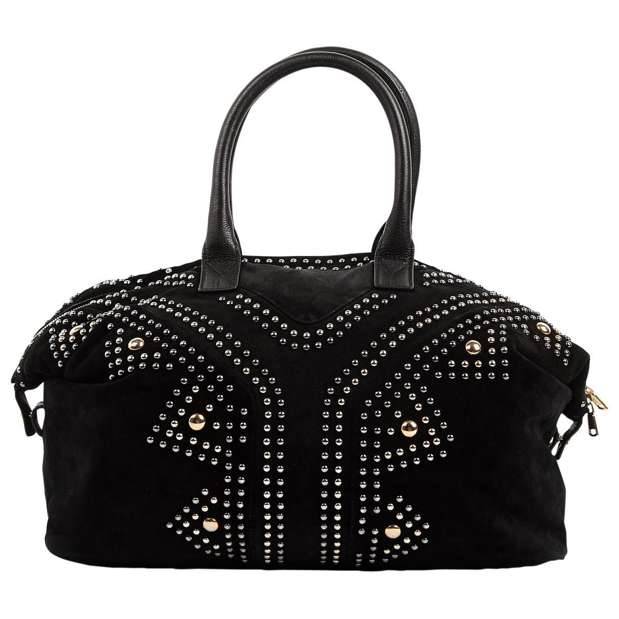 Yves Saint Laurent Easy Black Suede handbag for Women \N