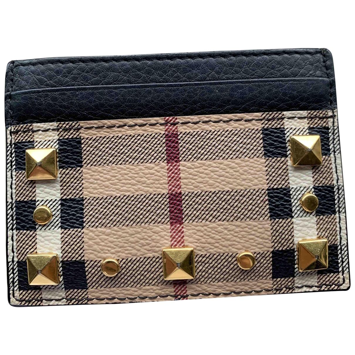 Burberry \N Beige Cloth Small bag, wallet & cases for Men \N