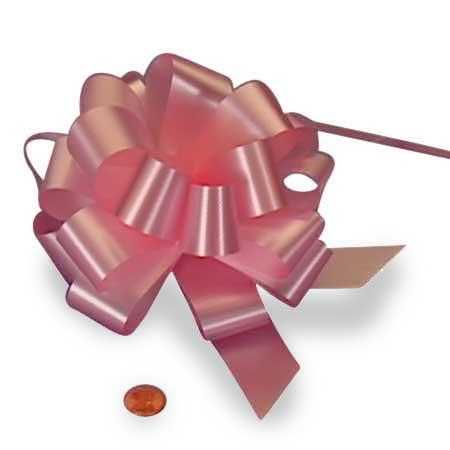 Satin Light Pink Pull String Bow 5