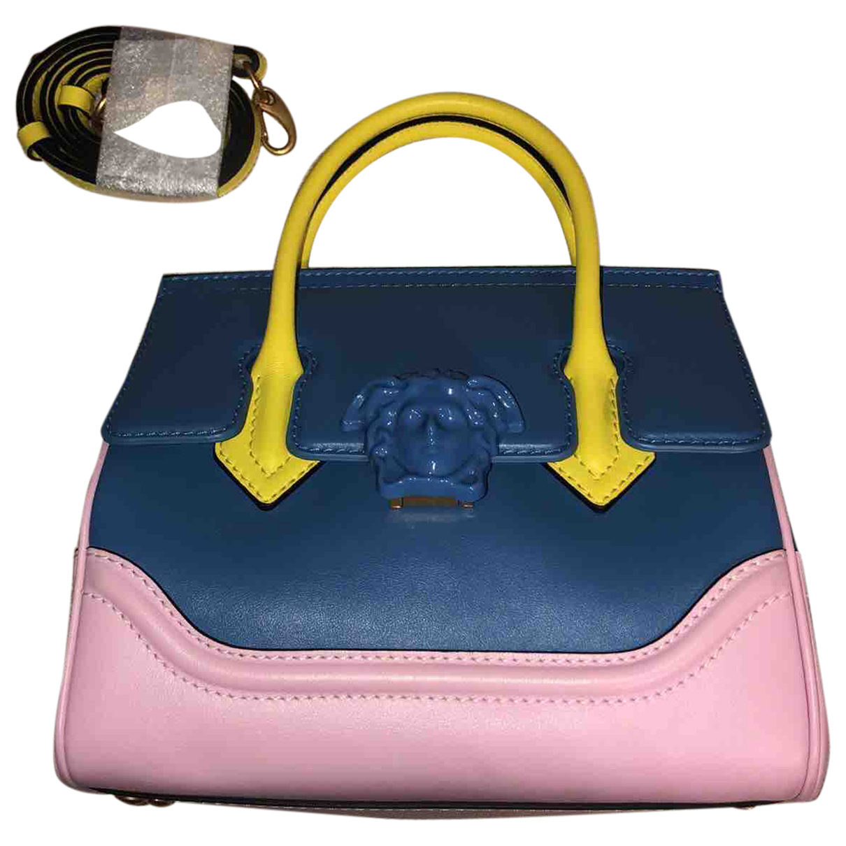 Versace Palazzo Empire Blue Leather handbag for Women \N