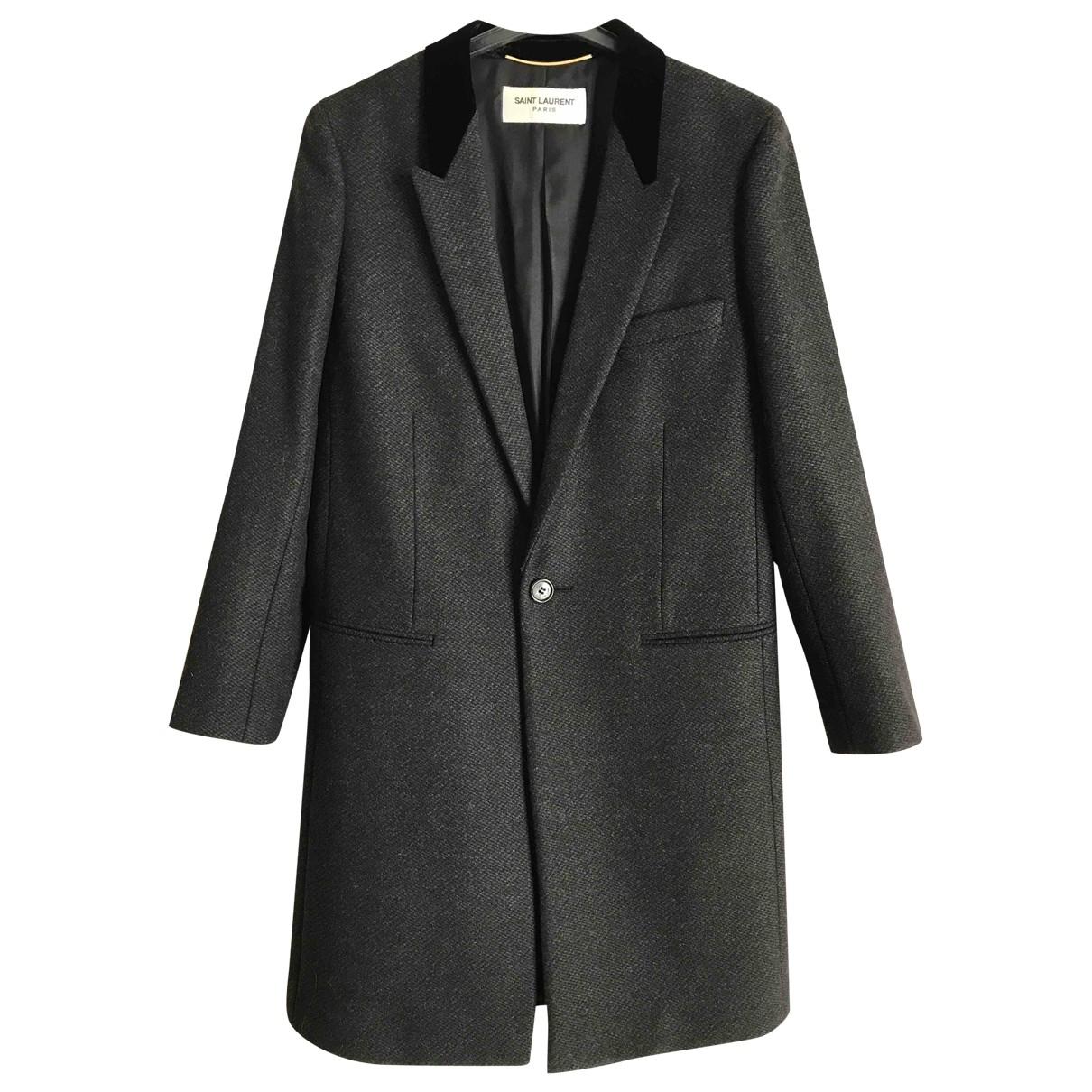 Saint Laurent - Manteau   pour femme en laine - gris