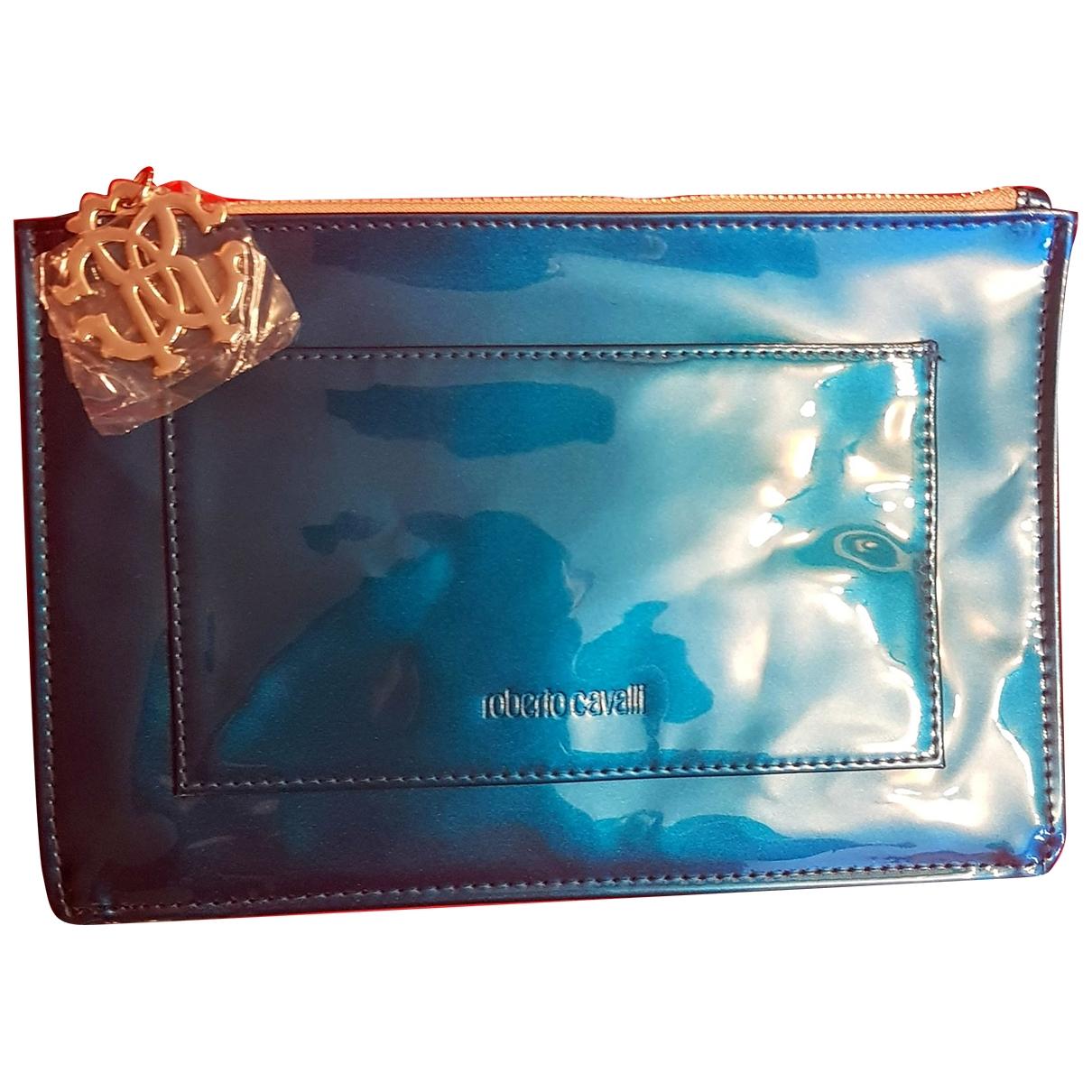 Roberto Cavalli \N Blue Leather Clutch bag for Women \N