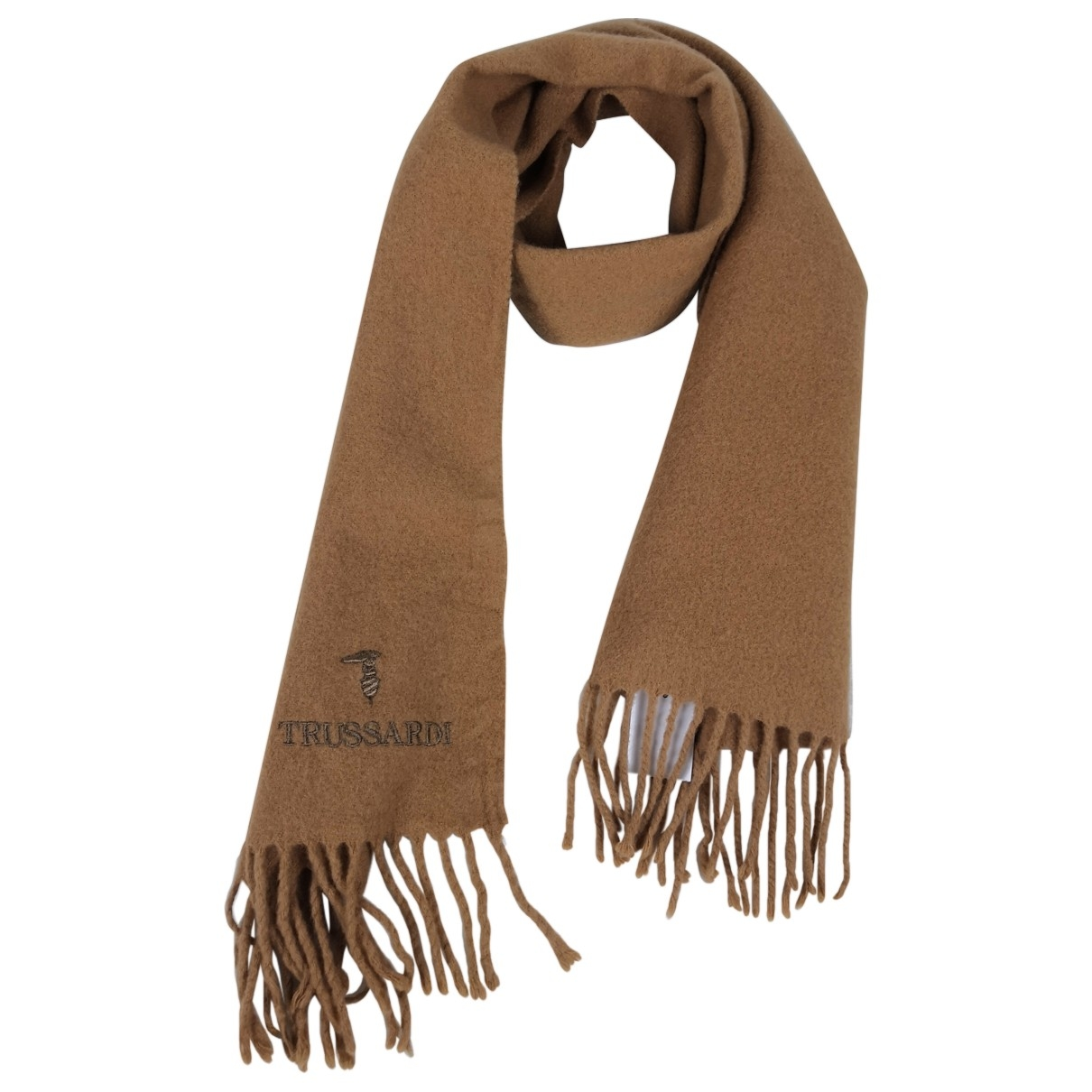 Trussardi \N Camel Wool scarf & pocket squares for Men \N