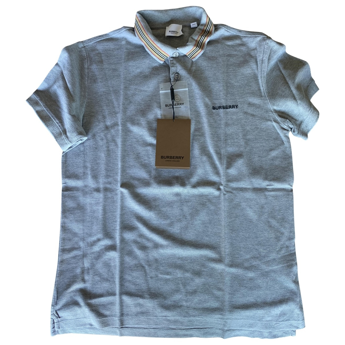 Burberry \N Grey Cotton Polo shirts for Men M International