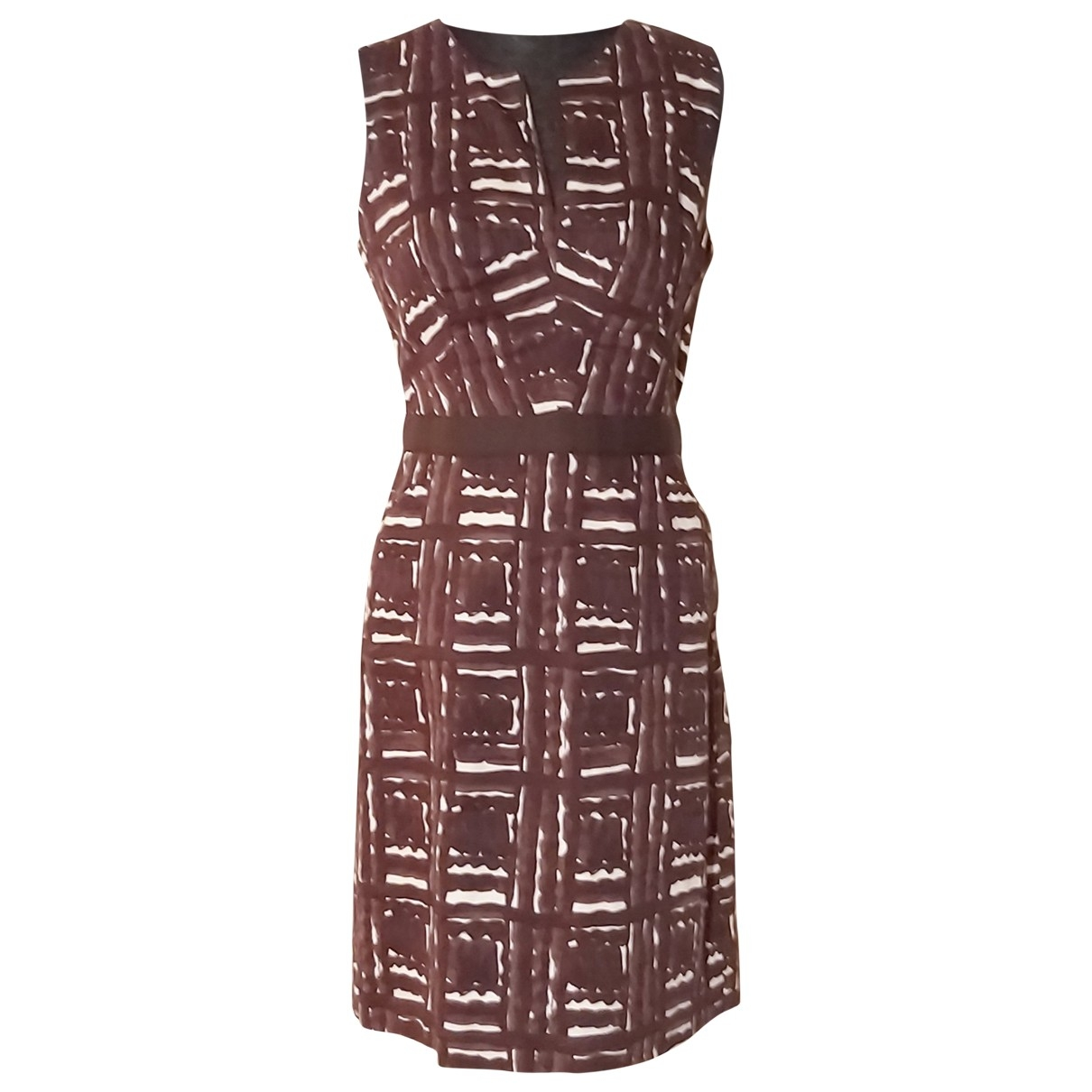 Milly \N Brown Cotton dress for Women 6 US