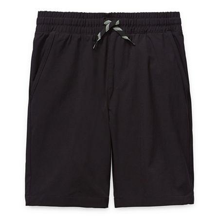 Arizona Little & Big Boys Adjustable Waist Hybrid Short, Medium Husky , Black