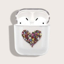 1pc Flower Print AirPods Case