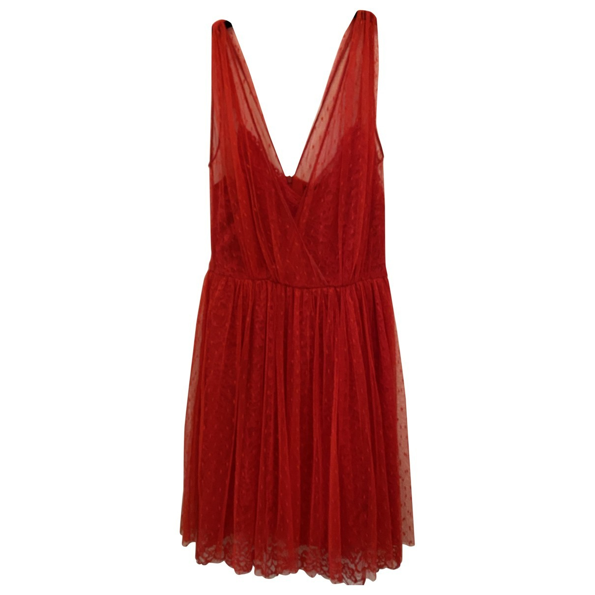 Ermanno Scervino \N Red Lace dress for Women XS International
