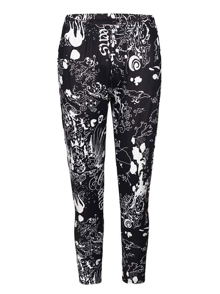 Milanoo Woman\'s Leggings Comfortable Polyester Casual Leggings