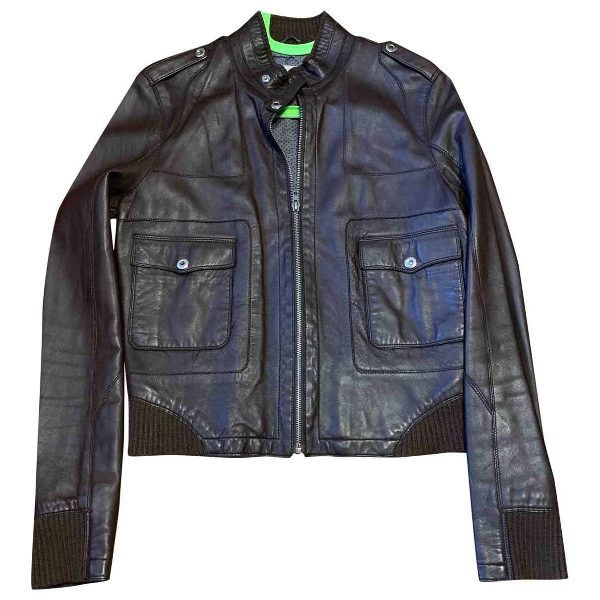 Max & Moi \N Brown Leather Leather jacket for Women 38 FR