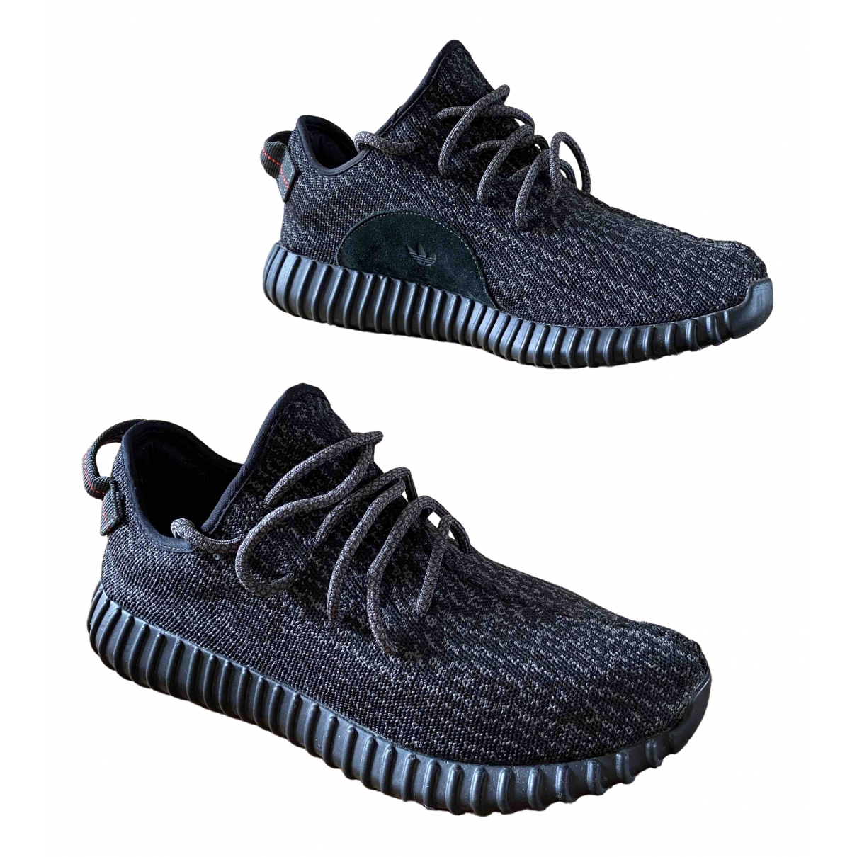Yeezy X Adidas Boost 350 V1 Black Cloth Trainers for Men 10.5 UK