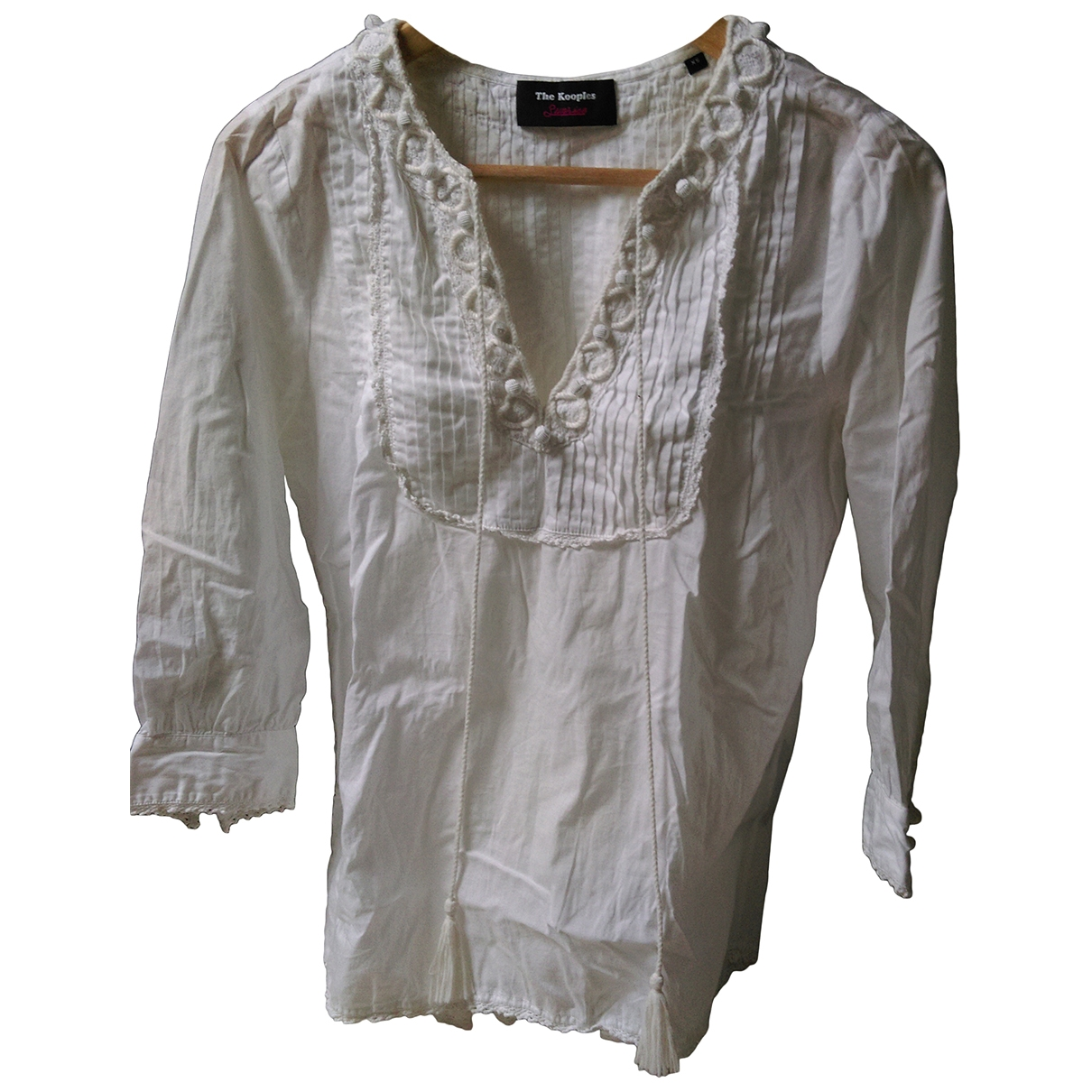 The Kooples \N White Cotton  top for Women XS International