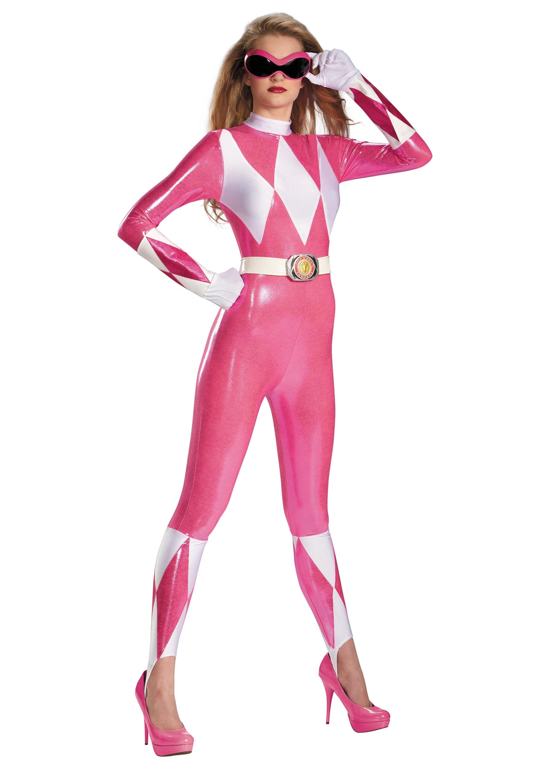 Pink Ranger Sassy Bodysuit Costume | Power Ranger Bodysuit